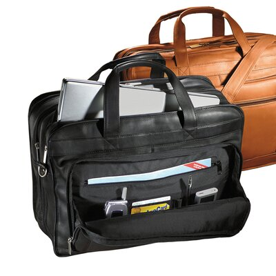 Vaqueta Napa Leather Laptop Briefcase by Andrew Philips