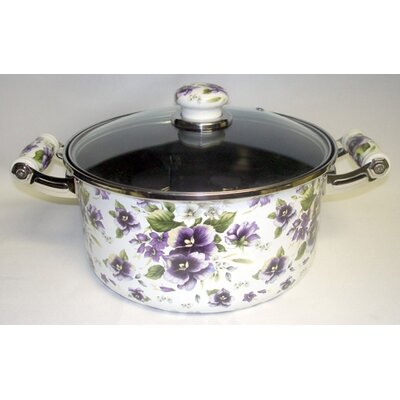 Enamel Kitchenware Soup Pot with Lid by Danico