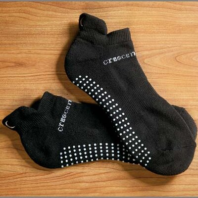 Crescent Moon ExerSock Large Yoga and Pilates Socks in Black (3-Pack)