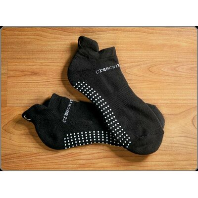 Crescent Moon ExerSock Large Yoga and Pilates Socks in Black