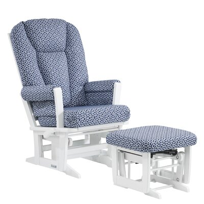 Ultramotion Modern Multiposition Recline Glider and Ottoman by Dutailier