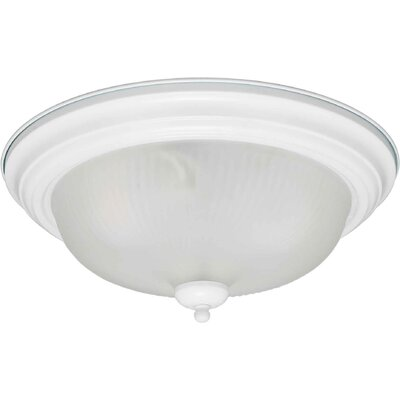 Forte Lighting 2 Light Flush Mount - Swirled Satin Etched Glass