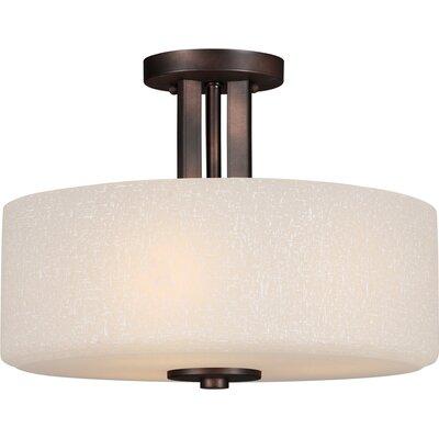 3 Light Semi-Flush Mount Product Photo