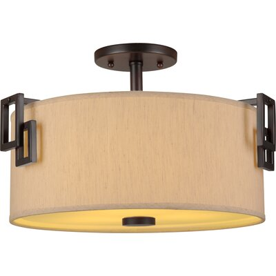 3 Light Semi-Flush Mount Product Photo