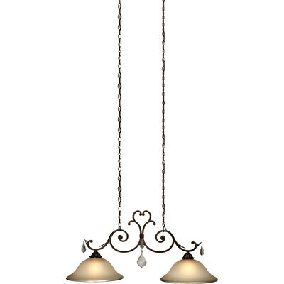 artcraft lighting florence 2 light island in bronze