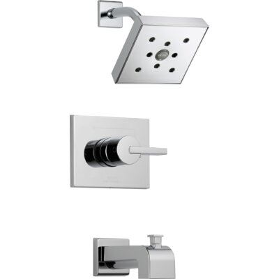 Vero Diverter Tub and Shower Faucet Trim with Lever Handle Product Photo