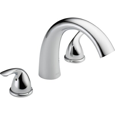 Classic Double Handle Deck Mount Roman Tub Faucet Trim Product Photo