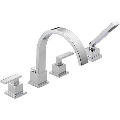 Vero Double Handle Deck Mount Roman Tub Trim with Handshower Product Photo