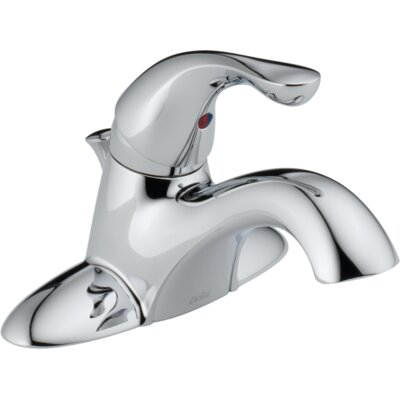 Single Handle Centerset Lavatory Faucet with Pop-Up Drain by Delta