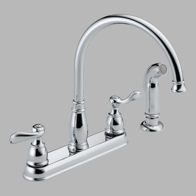 Delta Windemere Double Handle Centerset Kitchen Faucet