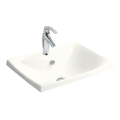 Kohler Escale Drop-In Bathroom Sink with Single Faucet Hole