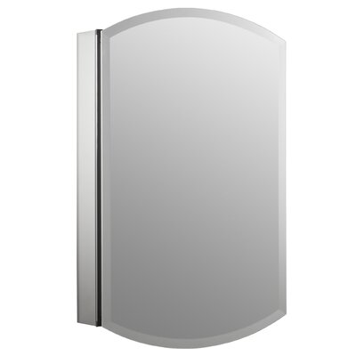 """Archer 20"""" x 31"""" Aluminum Wall Mount Medicine Cabinet with Mirrored Door Product Photo"""