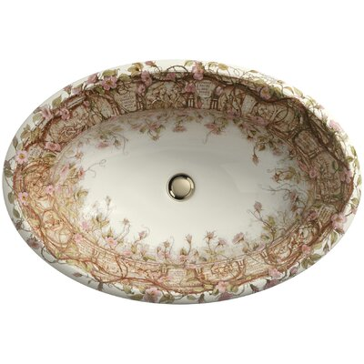 Kohler Tale Of Briar Rose Design On Centerpiece Drop-In Bathroom Sink