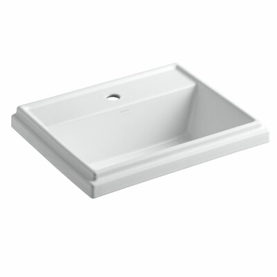 Tresham Rectangular Drop-In Bathroom Sink with Single Faucet Hole Product Photo