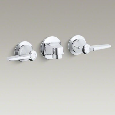 Triton Shelf-Back Commercial Bathroom Sink Faucet with Grid Drain and Lever Handles Product Photo