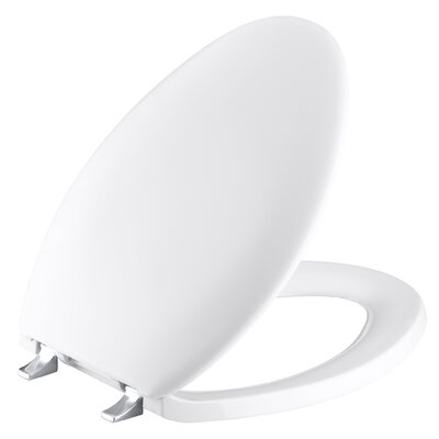 Kohler Bancroft Elongated Toilet Seat with Polished Chrome Hinges