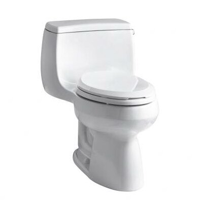 Gabrielle Comfort Height One-Piece Elongated 1.28 GPF Toilet with Aquapiston Flush Technology and Right-Hand Trip Lever Product Photo