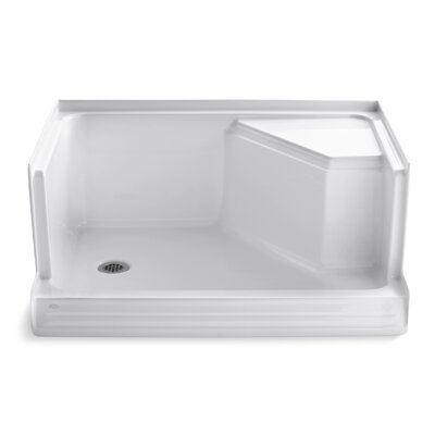 """Memoirs 48"""" x 36"""" Single Threshold Left-Hand Drain Shower Base with Integral Seat At Right Product Photo"""