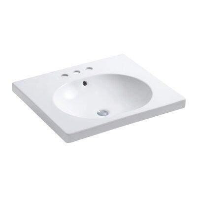 Persuade Circ Vanity-Top Bathroom Sink with Centerset Faucet Holes by Kohler