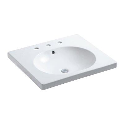 Persuade Circ Vanity-Top Bathroom Sink with Widespread Faucet Holes by Kohler