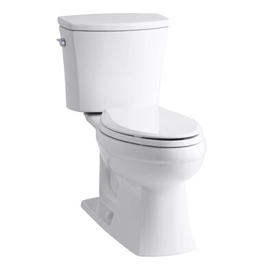 Kelston Comfort Height Two-Piece Elongated 1.28 GPF Toilet with Aquapiston Flush Technology and Left-Hand Trip Lever Product Photo