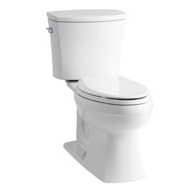 Kohler Kelston Comfort Height Two-Piece Elongated 1.6 GPF Toilet with Aquapiston Flush Technology and Left-Hand Trip Lever