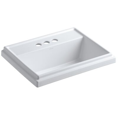 Tresham Rectangular Drop-In Bathroom Sink with 4