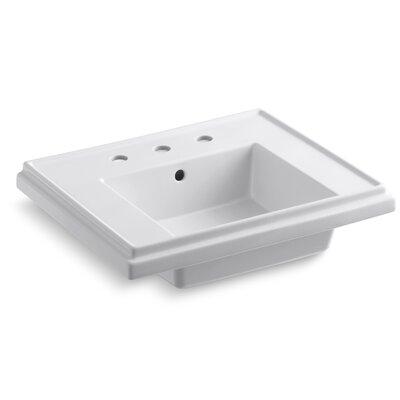 """Kohler Tresham 24"""" Pedestal Bathroom Sink Basin with 8"""" Widespread Faucet Holes"""