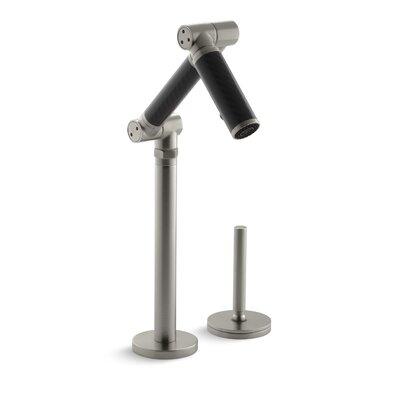 Kohler Karbon Articulating Deck-Mount Bathroom Sink Faucet with Black Tube and Lever Handle