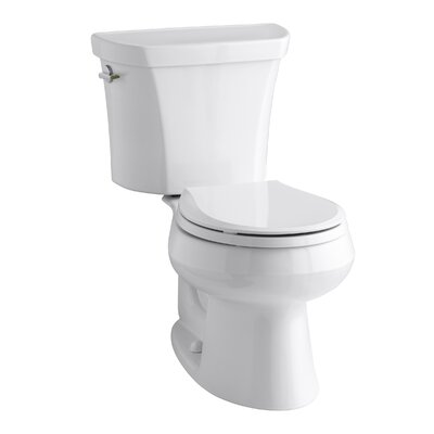 Wellworth 2 Piece Round-Front Dual-Flush Toilet with Class Five Flush Technology and Left-Hand Trip Lever Product Photo