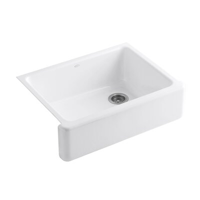 "Whitehaven Self-Trimming 29-11/16"" x 21-9/16"" x 9-5/8"" Undermount Single Bowl Kitchen Sink Product Photo"