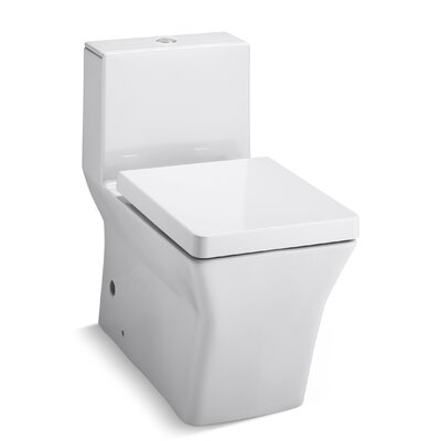 Rêve Comfort Height Skirted One-Piece Elongated Dual-Flush Toilet with Top Actuator Product Photo