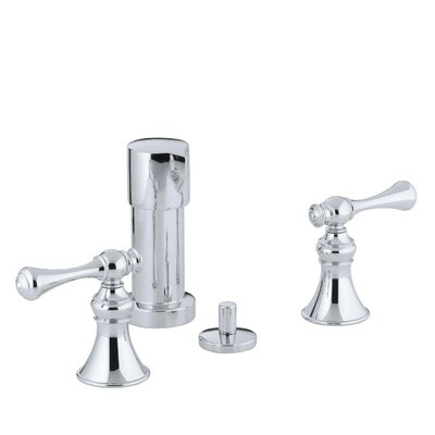 Kohler Revival Vertical Spray Bidet Faucet with Traditional Lever Handles