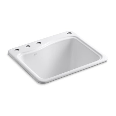 River Falls Top-Mount Utility Sink with 4 Faucet Holes - 3-Holes On Deck On The ...