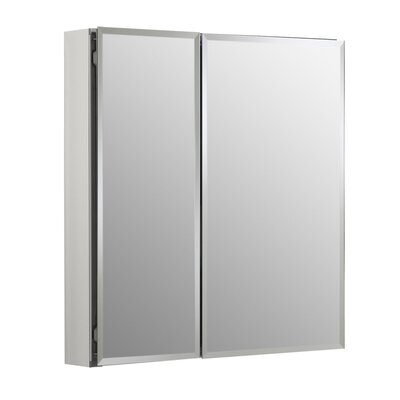 "25"" x 26"" Aluminum Mirrored Medicine Cabinet Product Photo"