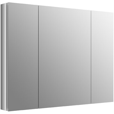 "Verdera 40"" W x 30"" H Aluminum Medicine Cabinet with Adjustable Magnifying Mirror and Slow-Close Door Product Photo"