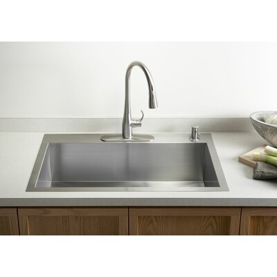 """Vault 33"""" x 22"""" x 9-5/16"""" Top-Mount/Under-Mount Large Single-Bowl Kitchen Sink with Single Faucet Hole Product Photo"""