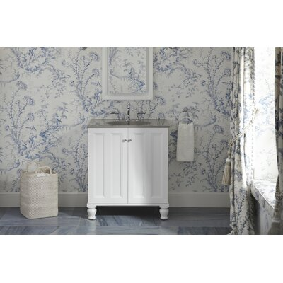 "Damask 30"" Vanity with Furniture Legs and 2 Doors Product Photo"