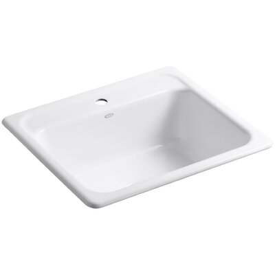 "Mayfield 25"" x 22"" x 8-3/4"" Top-Mount Single-Bowl Kitchen Sink with Single Faucet Hole Product Photo"