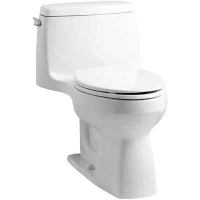 Santa Rosa Comfort Height One-Piece Compact Elongated 1.6 GPF Toilet with Aquapiston Flush Technology and Left-Hand T... Product Photo