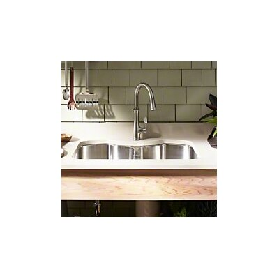 "Octave 32"" x 20-1/4"" x 9-5/16"" Under-Mount Double-Equal Stainless Steel Kitchen Sink Product Photo"