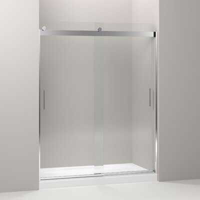 "Levity 74"" x 59.63"" Sliding  Shower Door with Blade Handles Product Photo"