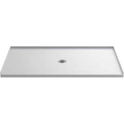 "Ballast 66"" x 36"" Shower Base with Center Drain Product Photo"