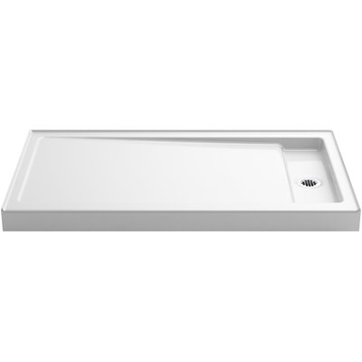 Bellwether Single-Threshold Shower Base with Right Offset Drain Product Photo