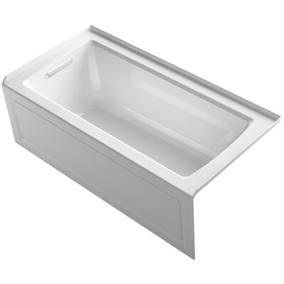 Archer Alcove Bath with Bask™ Heated Surface, Integral Apron, Tile Flange and Left-Hand Drain Product Photo