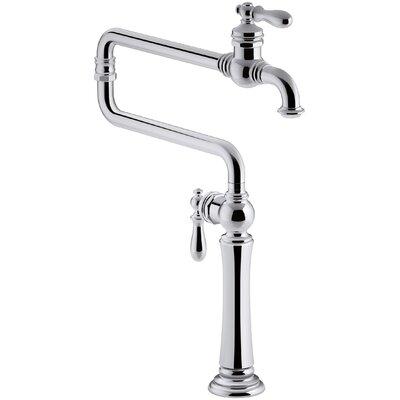 Artifacts Single-Hole Deck-Mount Pot Filler Kitchen Sink Faucet with Extended Spout by Kohler