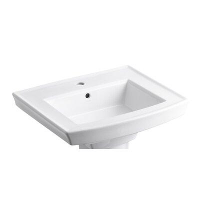 Archer Pedestal Sink : Kohler Archer Pedestal Bathroom Sink with Single Faucet Hole & Reviews ...