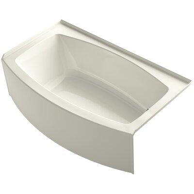 """Expanse Curved 60"""" x 30-36"""" Soaking Bathtub Product Photo"""