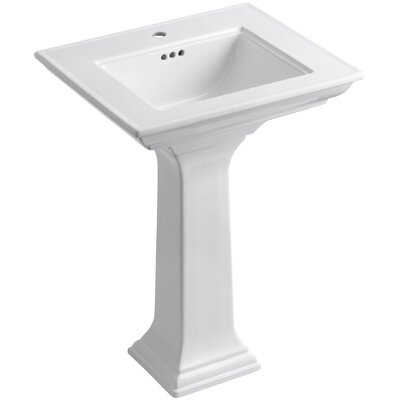 "Memoirs Stately 24"" Pedestal Bathroom Sink with Single Faucet Hole Product Photo"