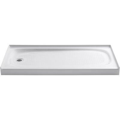 "Salient 60"" x 30"" Single Threshold Left-Hand Drain Shower Base Product Photo"
